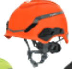 Image of the MSA V-Gard® H1 Safety Helmet Trident Orange